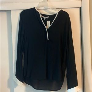 NWT Collective Concepts Black Blouse med
